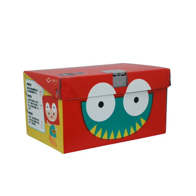 Kunststoff-Spielzeugkistenbehälter aus Wellpappe für Gemüse Farbdesign in Sondergröße für Verpackung oder Umlauf